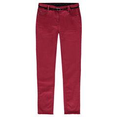 Junior - Slim fit broek van twill