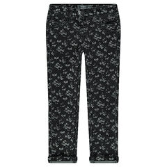 Junior - Slim-fit jeans met fantasieprint