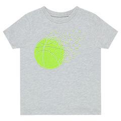 T-shirt met korte mouwen en rubberen print met tennisballen