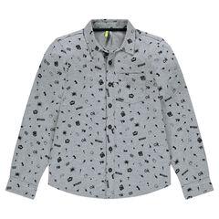 """Junior - Hemd met lange mouwen en print """"all-over"""""""