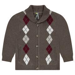 Gilet en tricot motif jacquard