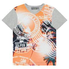 T-shirt met korte mouwen en visuele fantasieprint