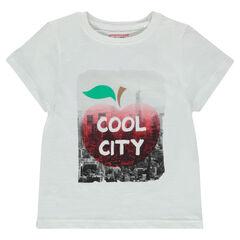 Junior - T-shirt met korte mouwen en fantasieprint uit jerseystof