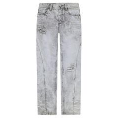 Junior - Jeans straight effet used et crinkle