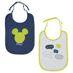 Lot de 2 bavoirs en jersey Disney print Mickey