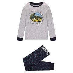 """Pyjama uit jerseystof met hondenprint en broek met motief """"all-over"""""""