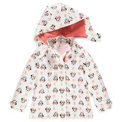Coupe-vent imperméable à capuche amovible imprimé Disney Minnie