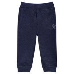 Pantalon de jogging en molleton gratté uni