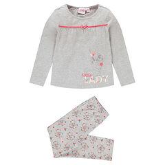 Lange pyjama uit jerseystof met print van Dinsey's Bambi