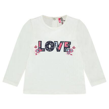 "Tee-shirt manches longues avec patch ""LOVE"""