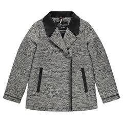 Junior - Manteau en jacquard et simili cuir