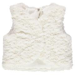 Vest zonder mouwen met namaakbont