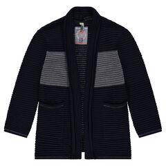Junior - Gilet en tricot ottoman avec larges poches