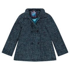 3/4de mantel met tweed-effect