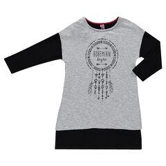 Junior - Tunique bicolore avec print attrape-rêves