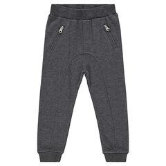 Pantalon de jogging en molleton fourche basse