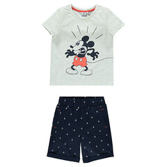 Disney strandoutfit met Mickey t-shirt en bermuda