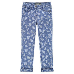Slim-fit jeans met print