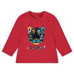 T-shirt met lange mouwen uit jerseystof en met fantasieprint