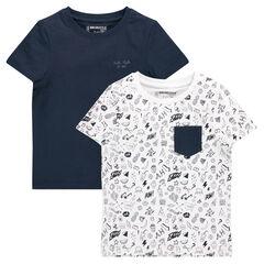 Set met 2 bijpassende shirts met korte mouwen