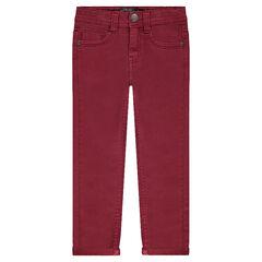 Pantalon en toile coupe slim
