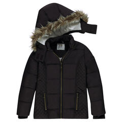 Junior - Gewatteerde parka met afneembare kap en en voering van sherpa