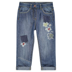 7/8-jeans met print en patches