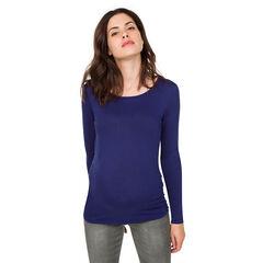 Zwangerschapst-shirt met lange mouwen en gekruiste rug