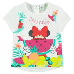 T-shirt met korte mouwen met tropische Disney's Minnie print
