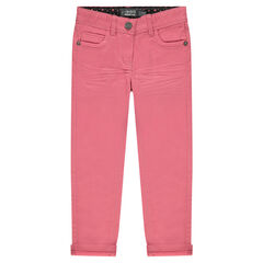 Junior - Slim-fit broek van effen twill