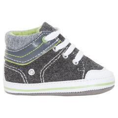 Soepele, hoge sneakers met veters