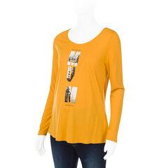 Tee-shirt manches longues de grossesse avec message printé