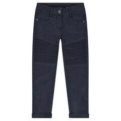 Junior - Pantalon skinny uni avec jeu de surpiqûres