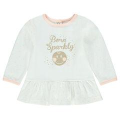 Tuniek met lange mouwen uit jerseystof en ©Smiley Baby print