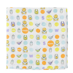Set de 3 langes ©Smiley Baby 70 x 70 cm