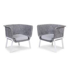 Set van 2 Baizy Sleeper stoelen (incl.matras) – Grijs