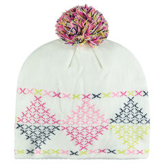 Muts in tricot met pompon