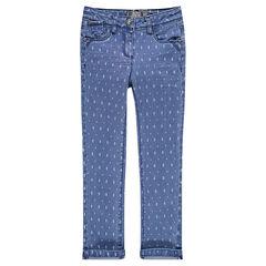 Jeans slim imprimé