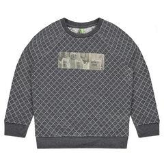 Junior - Sweater van molton met hologrampatch
