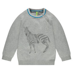 Tricottrui met zebraprint