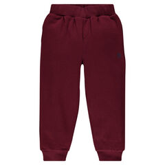 Pantalon de jogging en molleton uni avec poche