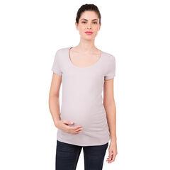 Tee-shirt de grossesse manches courtes en coton bio