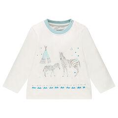 T-shirt met lange mouwen en zebraprint