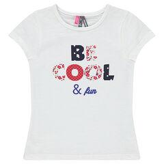 T-shirt met korte mouwen en fantasieboodschap