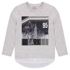 Junior - T-shirt met lange mouwen en 2-in-1 effect met print