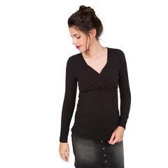 Borstvoedings-T-shirt met lange mouwen