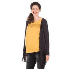 Gilet voor tijdens de zwangerschap met franjes