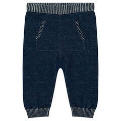 Pantalon en tricot fin