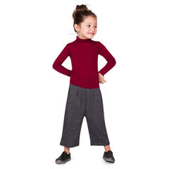 7/8-broek breed zijkant elastische tailleband