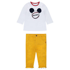 Ensemble tee-shirt manches longues réversible Mickey et pantalon en velours